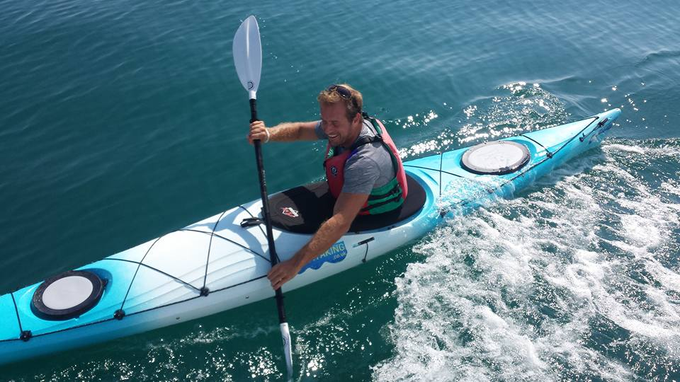Dan Richardson Annie Robertson Connolly IAPWA kayak cycle challenge GreenWorldTV
