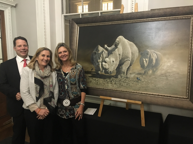 Helping Rhinos Charity evening at the Royal Institute London. GreenWorldTV