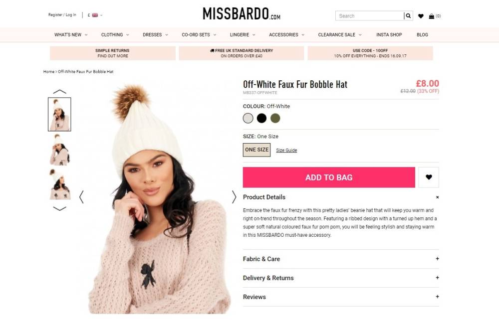 Miss Bardo Fur hat was tested and was found to be real fox fur