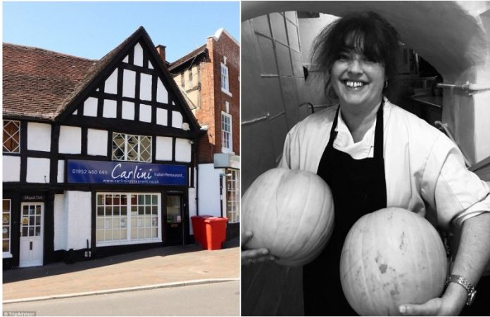 Laura Goodman (right) of The Carlini Restaurant in Shropshire claims to have spiked a vegan's food